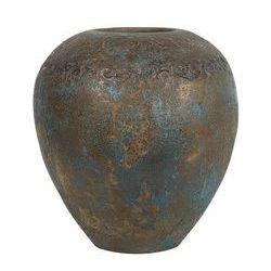 Beliani Wazon dekoracyjny złoto-turkusowy nida (4251682202541)