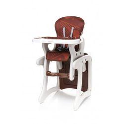 fashion krzesełko do karmienia + stolik 2 w 1 brown nowość od producenta 4baby