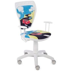 Obrotowe krzesło dziecięce MINISTYLE WHITE - Turbo