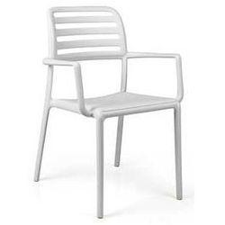 Designerskie krzesło ogrodowe do restauracji Nardi Costa białe, towar z kategorii: Krzesła ogrodowe