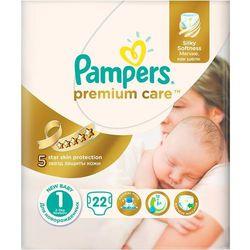 Pampers Pieluchy PremiumCare Newborn, rozmiar 1 , 22 sztuki - produkt z kategorii- Pieluchy jednorazowe