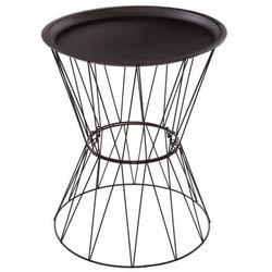 Metalowy stolik kawowy, okrągły, ze schowkiem - w nowoczesnym stylu (3560234477612)