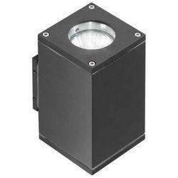 Zewnętrzna lampa elewacyjna livio 2 gm1101-2 dgr  ścienna oprawa ogrodowa kinkiet outdoor ip54 ciemny szary marki Azzardo