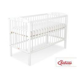 Łóżeczko sosnowe dla niemowląt, gwiazdki / białe, 120x60 cm, marki Bobono