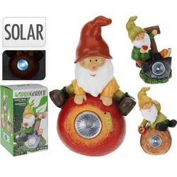 Lampa solarna krasnal figurka kamienna - Wzór III, ProGarden z GardenWorld