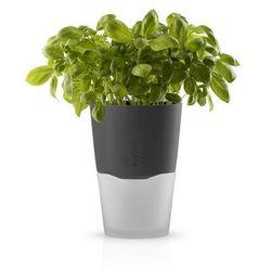 Eva solo  - samopodlewająca doniczka na zioła - 13 cm - stone grey