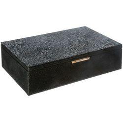 Atmosphera créateur d'intérieur Drewniane pudełko na biżuterię w kolorze czarnym, organizer na biżuterię, pudełko na kosmetyki, kuferki na biżuterię, kasetka (3560239698173)
