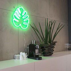 Lampa ścienna Neon zielony liść z kategorii Lampy ścienne
