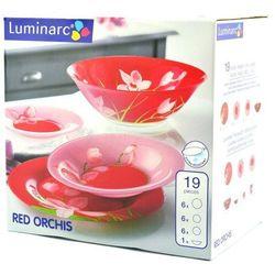 Serwis obiadowy 19 elementów Red Orchis G0663 ARC