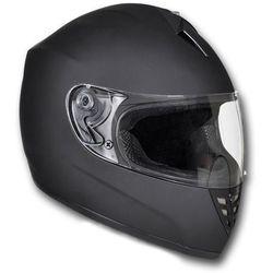 vidaXL Kask na motor, zamknięty, rozmiar S, czarny (kask motocyklowy)