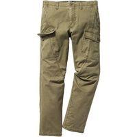 Bonprix Spodnie bojówki regular fit  zielony khaki