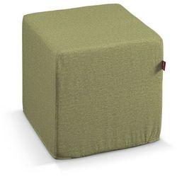 pufa kostka twarda, zielony szenil, 40x40x40 cm, living marki Dekoria
