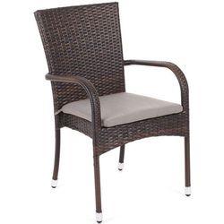 Krzesło ogrodowe technorattanowe Mori Brown Home&Garden 496700