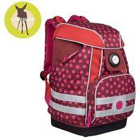 Lassig  - plecak szkolny xl ze sztywnymi plecami, i wodoodpornym dnem - dottie red