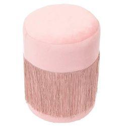 Pufa plume velvet różowa - różowy marki Intesi