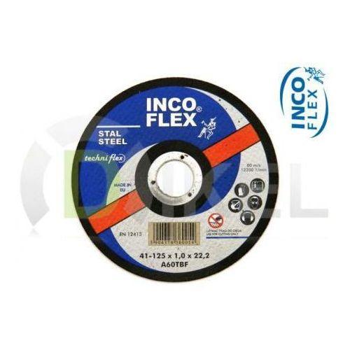 Tarcza tnąca do metalu 41A 125 x 1,0 mm INCO FLEX - oferta [a582237837114229]
