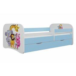 Kocotkids Łóżko dla dziecka, barierka, babydreams, zoo, niebieskie (5903271989331)