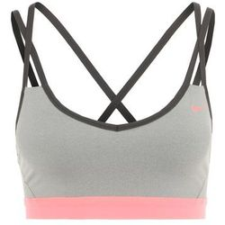 Nike Performance PRO INDY Biustonosz sportowy dark grey heather/anthracite/lava glow z kategorii bielizna spor