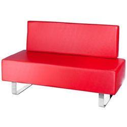 Kanapa do poczekalni messina bd-6713 czerwona marki Beauty system