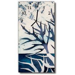 Zegar Szklany Pionowy Natura Malowany drzewo kolorowy