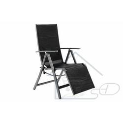 Leżak składany - Krzesło ogrodowe z oparciem