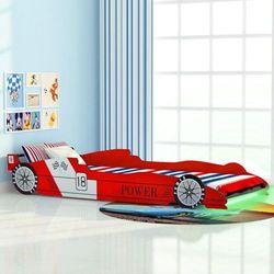vidaXL Łóżko dziecięce w kształcie samochodu, 90 x 200 cm, czerwone