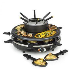 fonduelette, grill raclette i fondue, 1 l, 38 cm średnicy, na 8 osób, 1350 w marki Klarstein