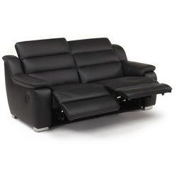 3-osobowa skórzana sofa z elektrycznie regulowaną funkcją relaks ARENA II - Czarny, kolor czarny