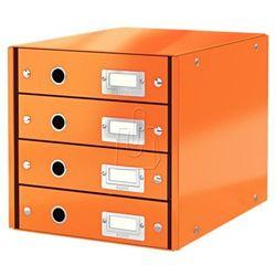 Pojemnik click&store z 4 szufladami pomarańczowy 60490044 marki Leitz