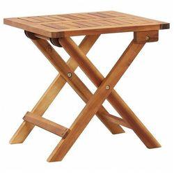 Drewniany składany stolik ogrodowy - Aiken