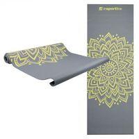 Mata do ćwiczeń inSPORTline Spirit joga, aerobik 172 x 61 cm - Kolor Szary