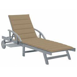 Beżowy leżak ogrodowy - Solar, vidaxl_3061332