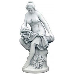 Figura ogrodowa betonowa kobieta z roślinami 121cm