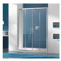 SANPLAST D4/TX5b Drzwi przesuwne 130x190, profile srebrny połysk, szkło transparentne + Glass Protect 600-27