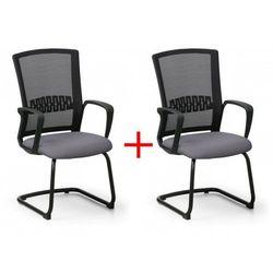 Krzesło konferencyjne Roy 1+1 Gratis, szary
