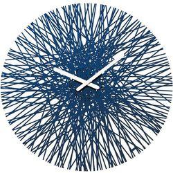 Zegar ścienny Silk welwetowy błękit (4002942384367)