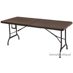 Goodhome Stół cateringowy bankietowy ogrodowy składany 180 brązowy