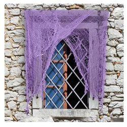 Obdarta fioletowa zasłona na okno - 1 szt. marki Carnival
