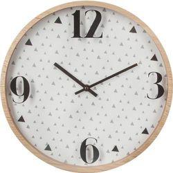 Nowoczesny zegar ścienny ATOMIC, okrągły, Ø 33 cm, kolor biały, kolor biały