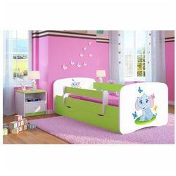 Łóżko dziecięce ze stelażem happy 2x mix 80x160 - zielone marki Producent: elior