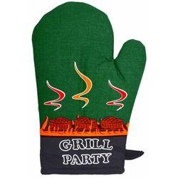 Rękawica kuchenna Grill party zielony, 18 x 28 cm, 232120