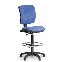 Podwyższone krzesło biurowe MILANO II - niebieske