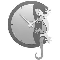 Calleadesign Zegar ścienny geko climbing  biały