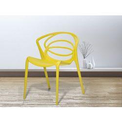 Krzesło żółte - do jadalni - ogrodowe - do kuchni - kuchenne - bend od producenta Beliani