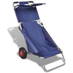 wózek, fotel na kółkach ze stolikiem, 3w1, niebieski., marki Vidaxl