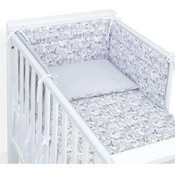 MAMO-TATO 3-el dwustronna pościel dla niemowląt 100x135 Hipcie / szary