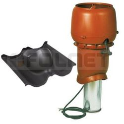Kominek VILPE 125mm/500mm z wentylatorem E190 do blachodachówki Finnera - produkt z kategorii- Kominy wentyla