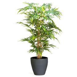 Sztuczne drzewko bambusowe z donicą, 1500 mm, czarny, 1321611