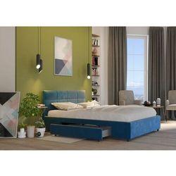 Łóżko 180x200 tapicerowane arezzo + 2 szuflady welur lazurowe marki Big meble