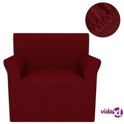 vidaXL Elastyczny pokrowiec na fotel, pikowany, burgundowy (8718475513902)